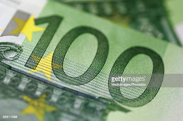 European currency: one hundred euro bank note