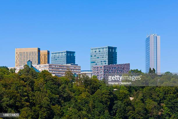 European district at Kirchberg Plateau, Luxembourg