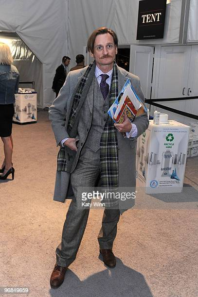European Editor at Large for Vogue Hamish Bowles attends MercedesBenz Fashion Week at Bryant Park on February 18 2010 in New York City
