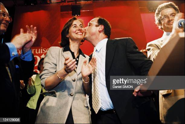 European elections campaign Segolene Royal and Francois Hollande In Paris France On May 17 1999 Segolene Royal and Francois Hollande