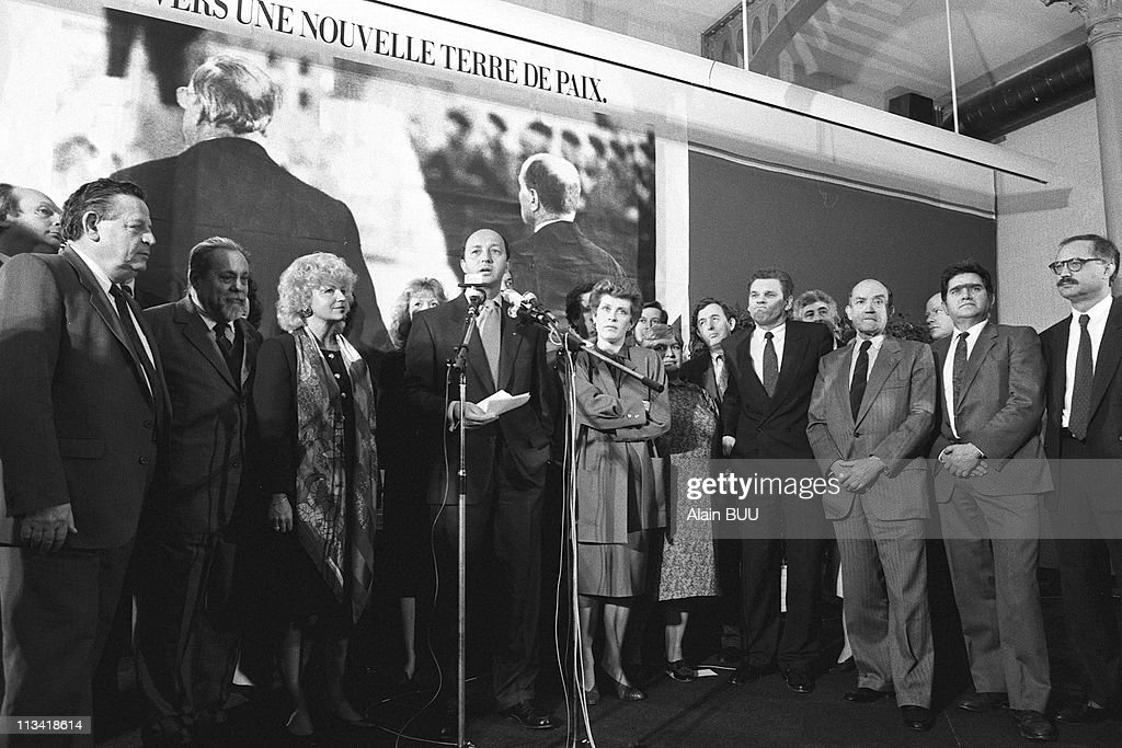 L - Fabius And Its List On May 03th, 1989,In Paris,France
