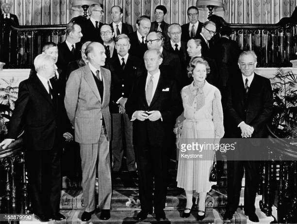 European leaders at an EEC summit in Dublin December 1979 Front row from second left French President Valery Giscard d'Estaing Irish Taoiseach Jack...