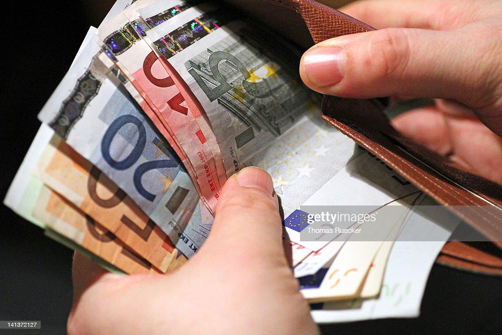 European money in wallet