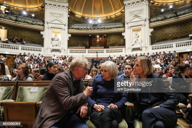 European MP Daniel CohnBendit former French Justice Minister Elisabeth Guigou and President of the French parliamentary commission on Foreign Affairs...