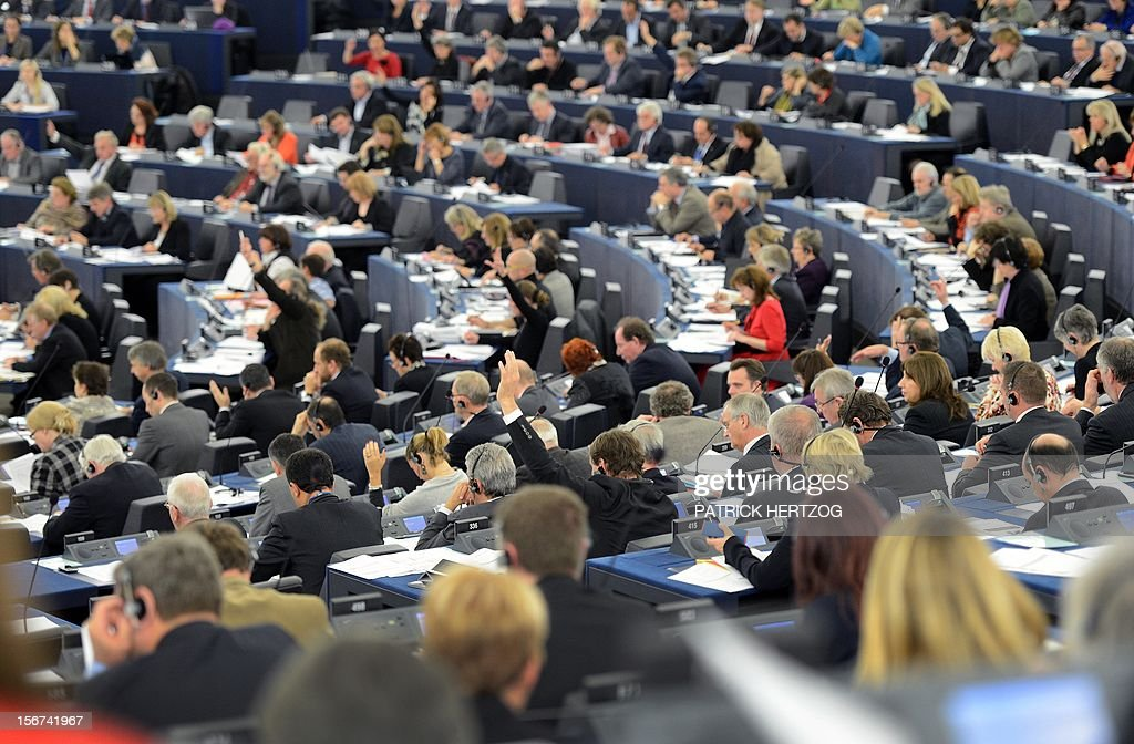 European MPs vote on the nomination of the new health and consumer protection commissioner during a plenary session at the European Parliament, on November 20, 2012 in Strasbourg, eastern France.