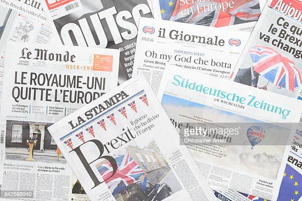 European newspapers react to Brexit vote