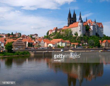 European old castle in Meissen