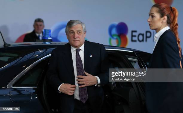 European Parliament Chief Antonio Tajani attends the EUs Eastern Partnership Summit in Brussels Belgium on November 24 2017