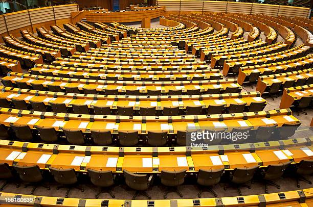European Parliament Empty Assembly Room Brussels