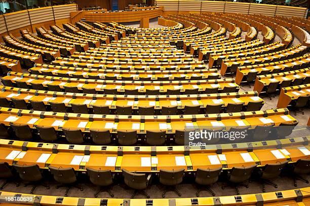 Europäische Parlament leer Aula Brüssel