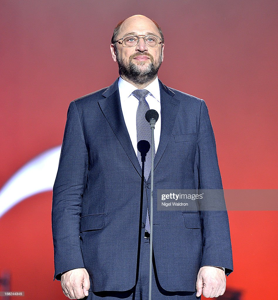 European Parliament President Martin Schulz of Germany at the Nobel Peace Prize Concert 2012 at Oslo Spektrum on December 11, 2012 in Oslo, Norway.