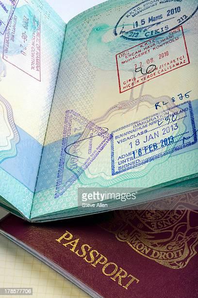 European Passport & Visa Stamps