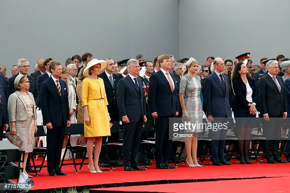 European royals including Grand Duchess Maria Teresa of Luxembourg Grand Duke Henri of Luxembourg Queen Mathilde of Belgium King Philippe of Belgium...