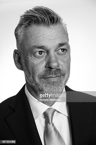 2016 European Ryder Cup Captain Darren Clarke of Northern Ireland poses during a Ryder Cup Photocall at the Sofitel hotel on March 23 2015 in London...