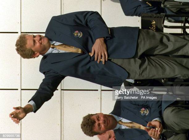 European Ryder Cup player Colin Montgomerie is introduced to the spectators at today's opening ceremony of the Johnnie Walker Ryder Cup '97 in...