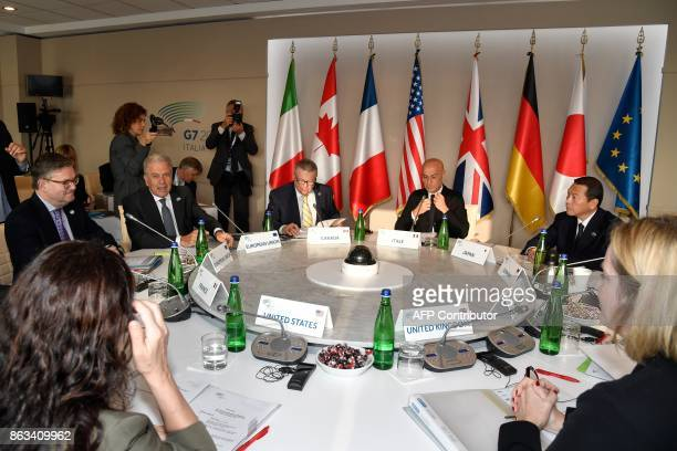 European safety commissioner Julian King EU commissioner for migration Dimitris Avramopoulos Canada's Public Safety Minister Ralph Goodale Italian...