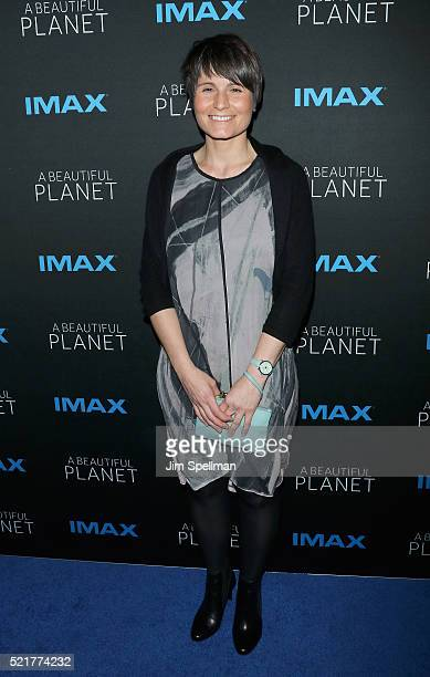European Space Agency astronaut Samantha Cristoforetti attends 'A Beautiful Planet' New York premiere at AMC Loews Lincoln Square on April 16 2016 in...