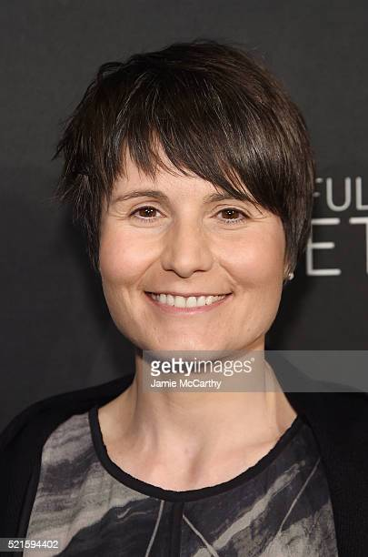 European Space Agency astronaut Samantha Cristoforetti attends the New York premiere of 'A Beautiful Planet' at AMC Loews Lincoln Square on April 16...