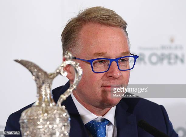 European Tour CEO Keith Pelley during an announcement of the venue for the 2018 Senior Open Championship at the Old Course on February 2 2016 in St...