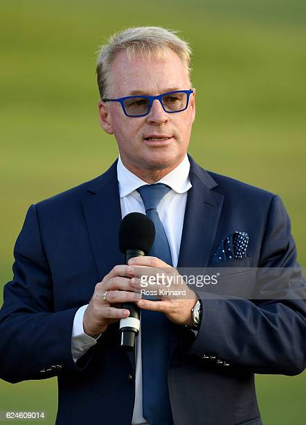 European Tour Chief Executive Keith Pelley after the final round of the DP World Tour Championship at Jumeirah Golf Estates on November 20 2016 in...