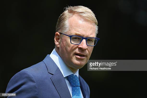 European Tour Chief Executive Keith Pelley walks the course during day four of the BMW PGA Championship at Wentworth on May 29 2016 in Virginia Water...