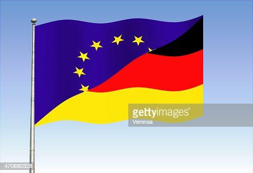 European union and German flag
