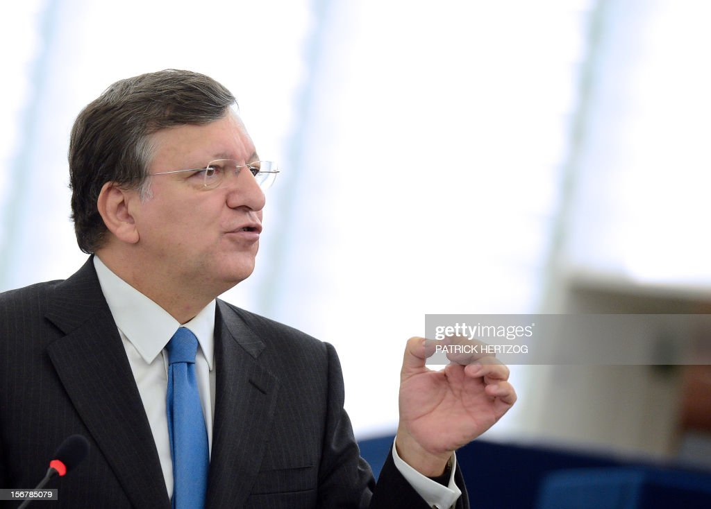 European Union Commission President Jose Manuel Barroso attends the European parliament plenary session, in Strasbourg, eastern France, on November 21, 2012.