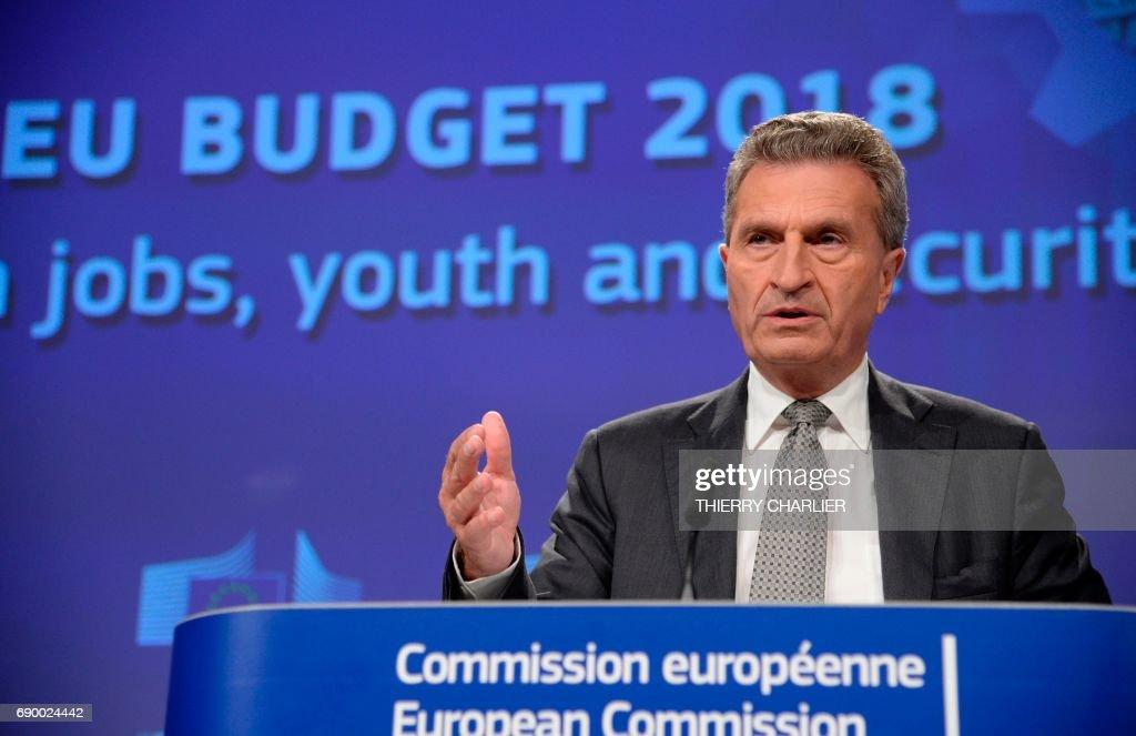 BELGIUM-EU-ECONOMY-BUDGET : News Photo