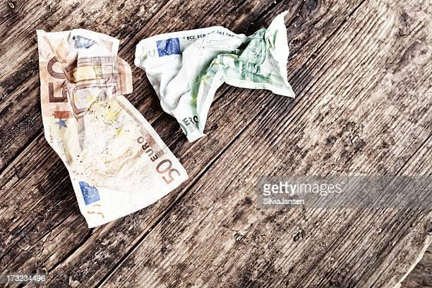 EU-Währung Krise-Konzept