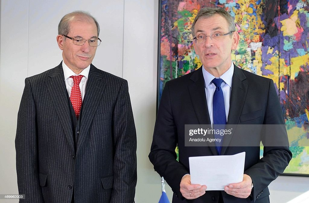European Union Development Commissioner Andris Piebalgs and DirectorGeneral of Organisation For the Prohibition of Chemical Weapons Ahmet Uzumcu...
