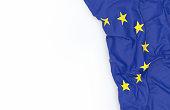 European Union Flag on white board
