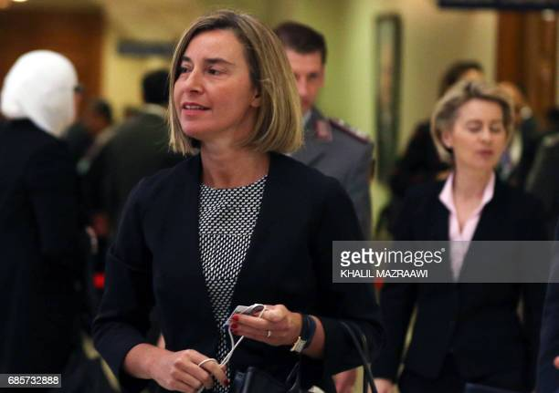 European Union High Representative for Foreign Affairs and Security Policy Federica Mogherini attends the opening session of the World Economic Forum...