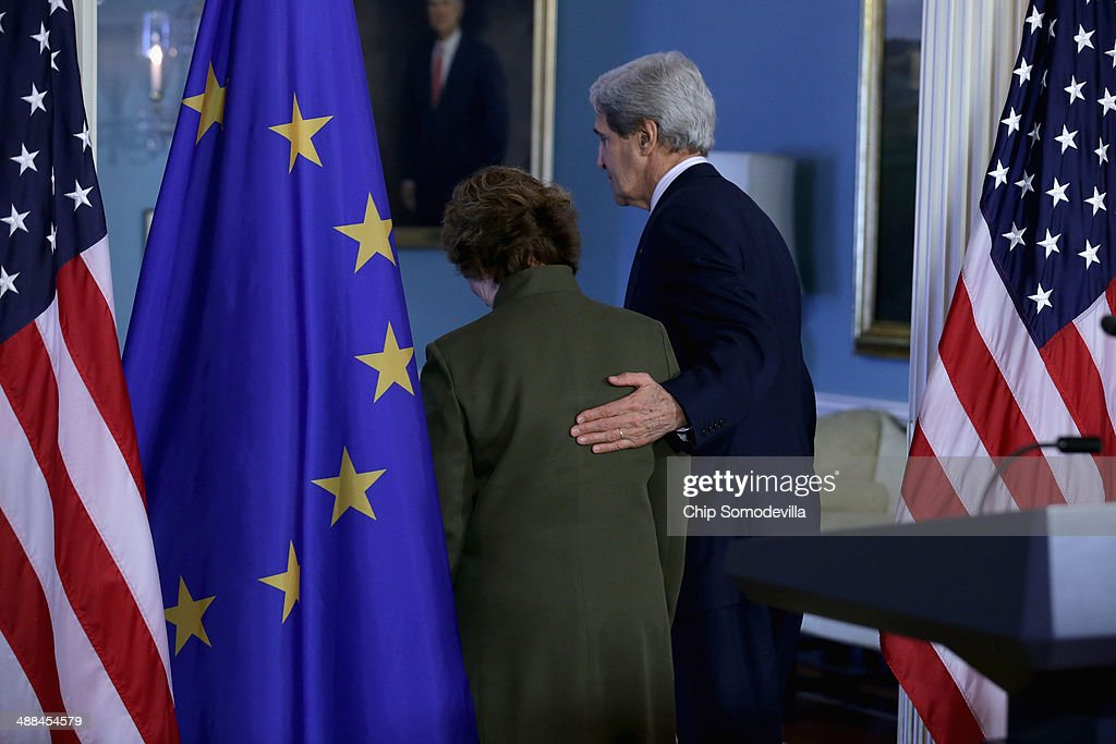 Secretary Of State Kerry Holds Joint News Conference With EU High Representative Lady Catherine Ashton