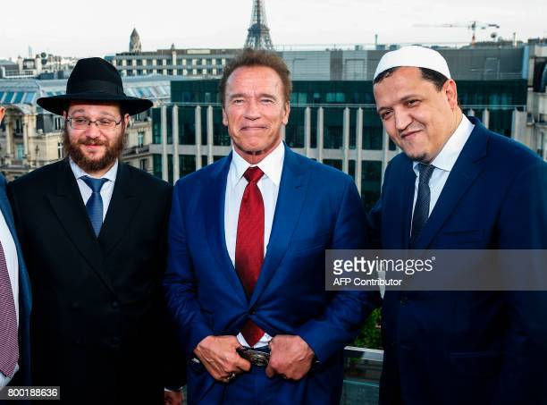 European Union institutional Rabbi Levi Matusof US actor and founder of the R20 climate action group Arnold Schwarzenegger and FrancoTunisian...