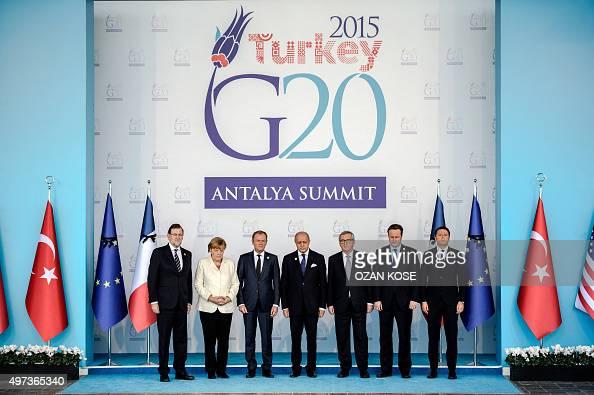 European Union leaders Spanish President Mariano Rajoy German Chancellor Angela Merkel European Council President Donald Tusk French Foreign minister...