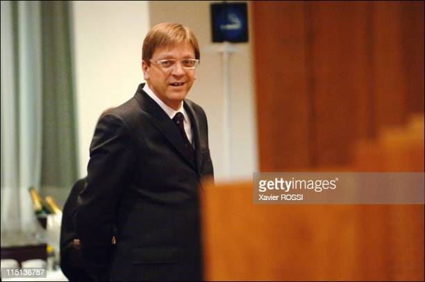 European Union summit in Brussels Belgium on December 16 2005 Belgian prime minister Guy Verhofstadt