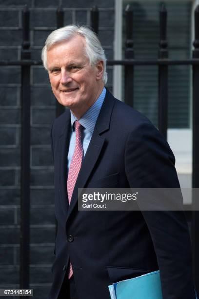 European Union's chief Brexit negotiator Michel Barnier arrives with European Commission president JeanClaude Juncker to meet Britain's Prime...