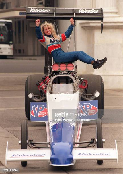 Europe's fastest driver Viveca Averstedt arrives in London with her dragster racing car The former Swedish bodybuilding champion aims to break the...