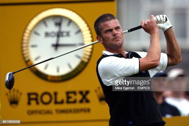 Europe's Jesper Parnevik tees off during his match against USA's Mark Calcavecchia and David Duval
