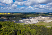 europe's largest toxic waste landfill Ihlenberg in the north of Germany