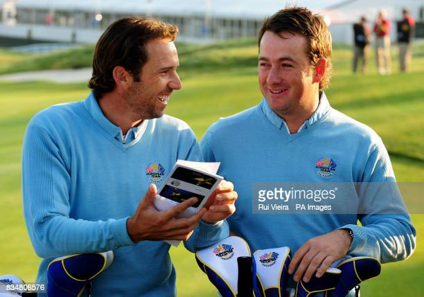 Europe's Sergio Garcia and Graeme McDowell at Valhalla Golf Club Louisville USA