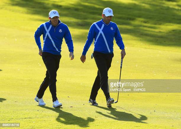 Europe's Sergio Garcia and Rory McIlroy
