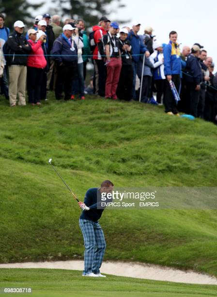 Europe's Sergio Garcia during a practice session