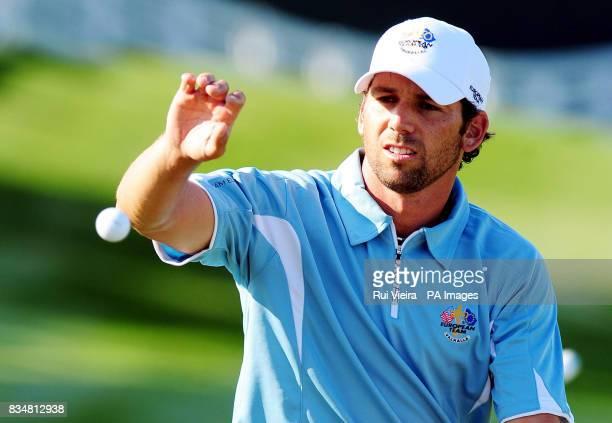 Europe's Sergio Garcia during practice at Valhalla Golf Club Louisville USA