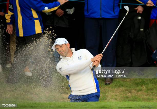 Europe's Sergio Garcia in the Foursomes