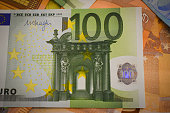 Close up of a 100 Euro.