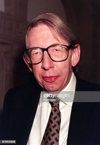 Eurosceptic Tory MP Sir George Gardiner at the BBC TV studios in London where he told the On the Record programme today that his phone had been...