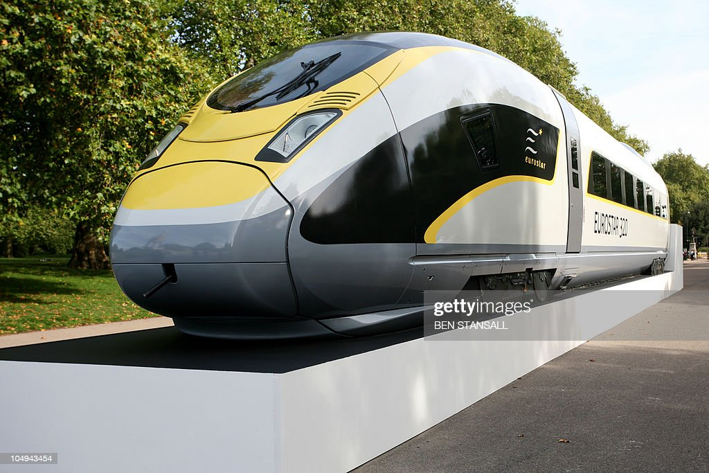 A Eurostar e320 train is photographed following a press conference in central London on October 7 2010 France reacted angrily on safety grounds to a...