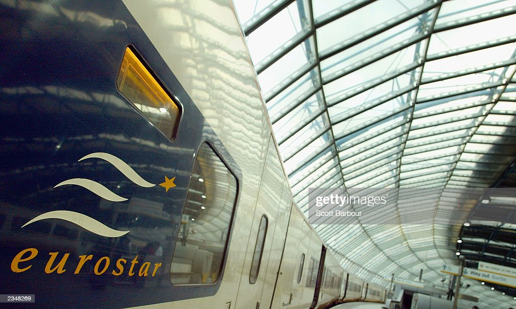 Eurostar train is shown at Waterloo Station July 30 2003 in London England Eurostar began passenger operations in November 1994 as a joint venture...