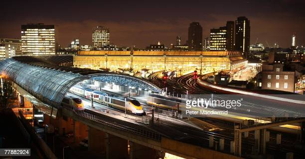 Eurostar train leaves Waterloo station on it's last day of operation as a departure point for France and Belgium on November 13 2007 in London...